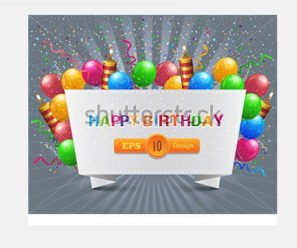 vector illustration of happy birthday card design