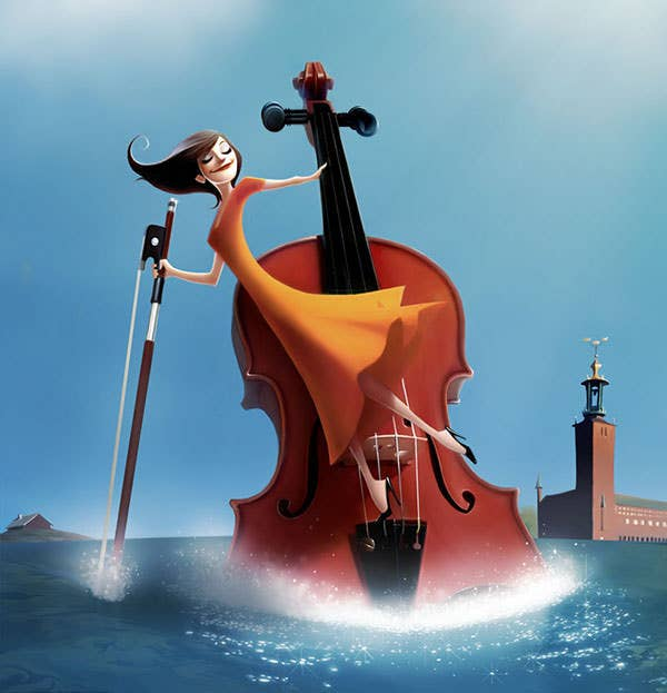 violin digital art
