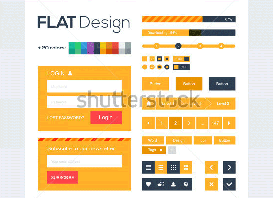 web and mobile design elements
