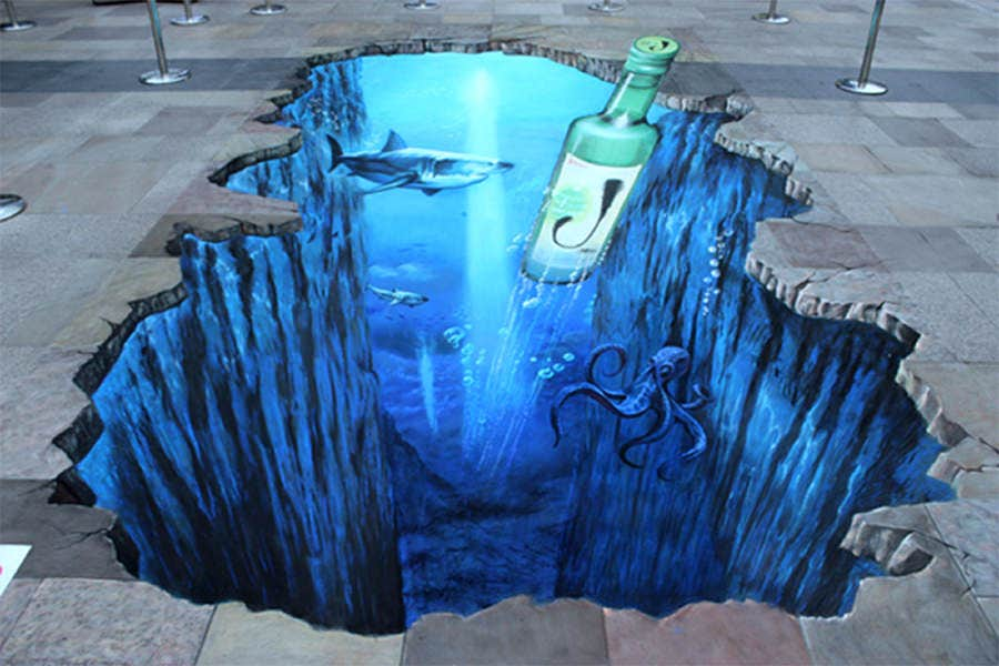 01 3d street painting jinro