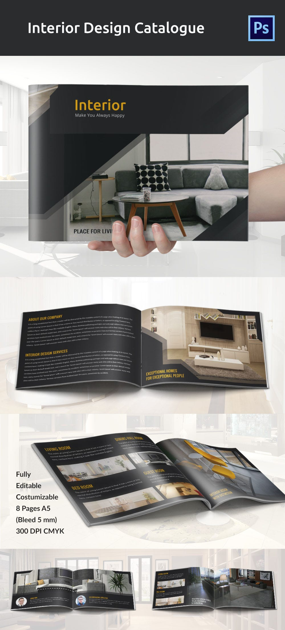 Creative Interior Design Brochure In Catalog Style