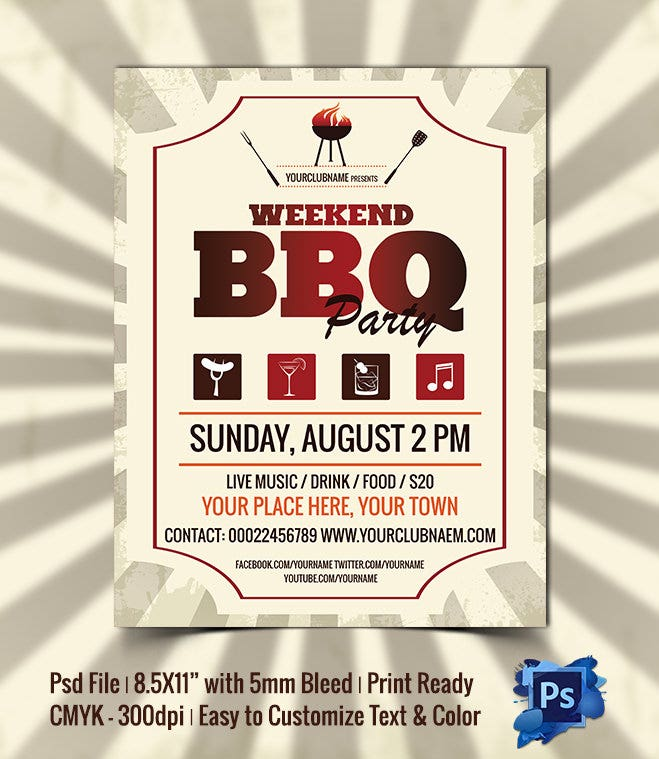 Weekend-BBQ-Party-Flyer-Template