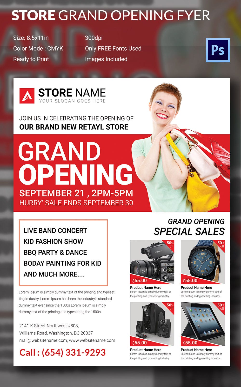 psd flyer templates psd eps ai indesign format store grand opening flyer template