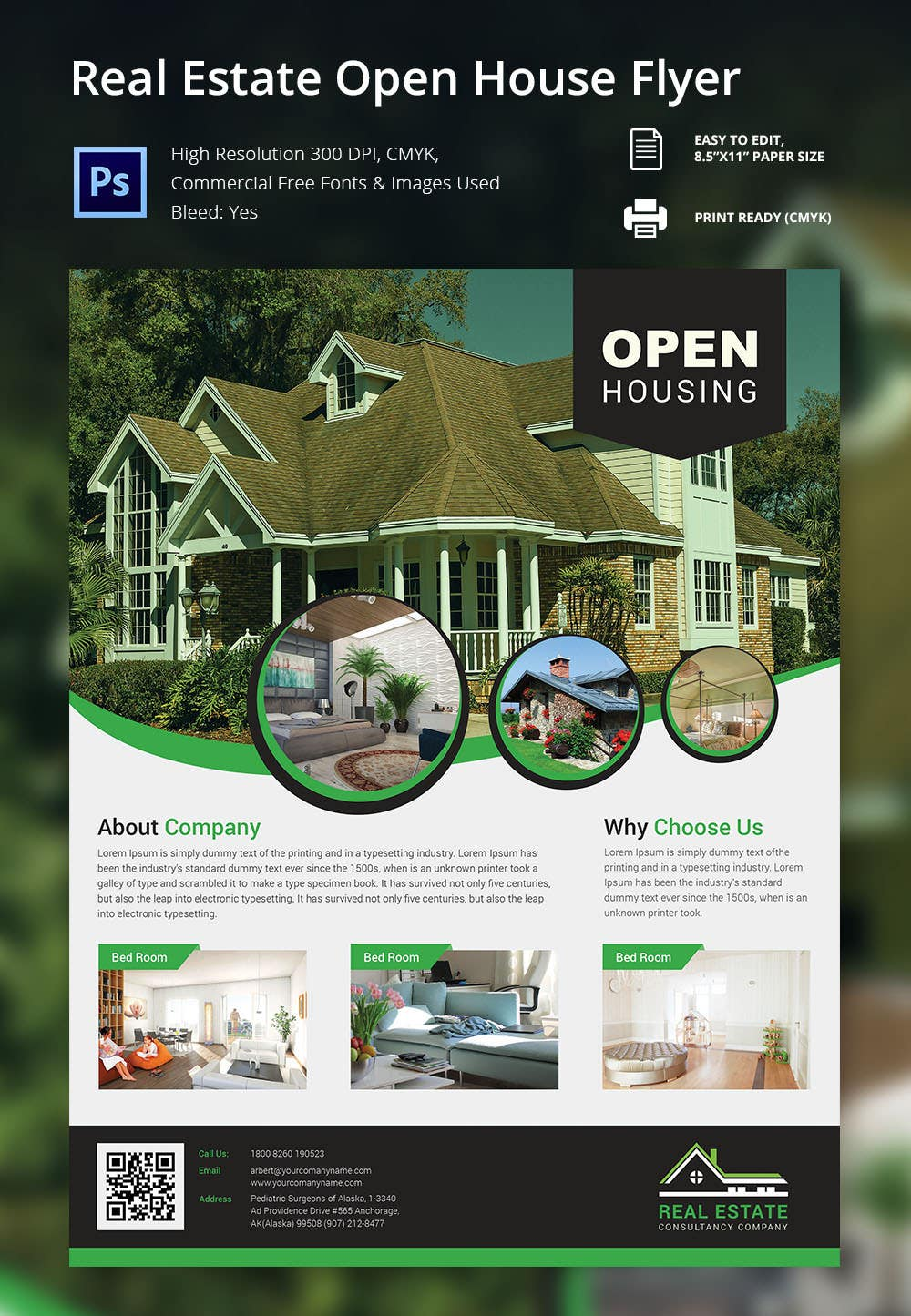 135 psd flyer templates psd eps ai indesign format real estate open house flyer template
