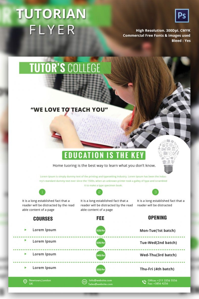 Tutorian Flyer Template