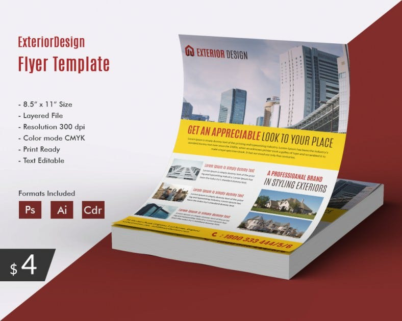 Attractive exterior Design flyer
