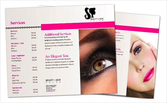Beauty Parlour Brochure Template – 35+ Free JPG, PSD, Indesign ...