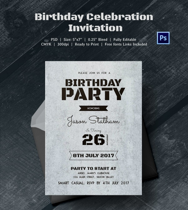 Birthday Invitation Template 70 Free PSD Format Download – Free Printable Football Birthday Invitations