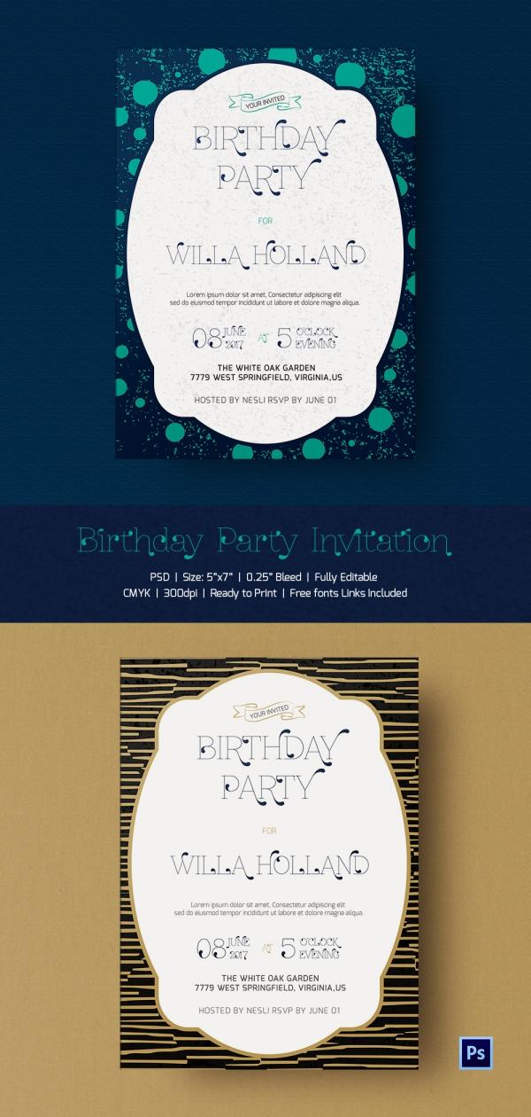 Premium Birthday Celebration Invitation Template