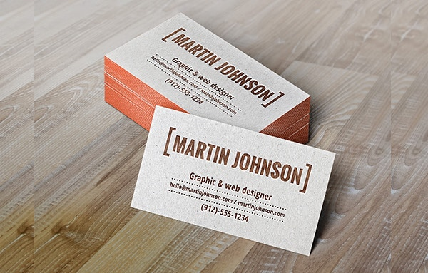 letterpress business card template download