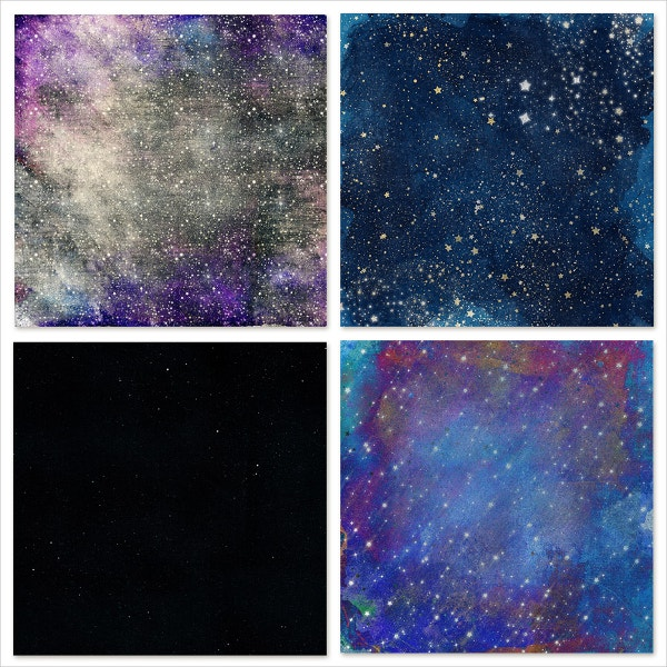10 Celestial Galaxy Backgrounds with Stars
