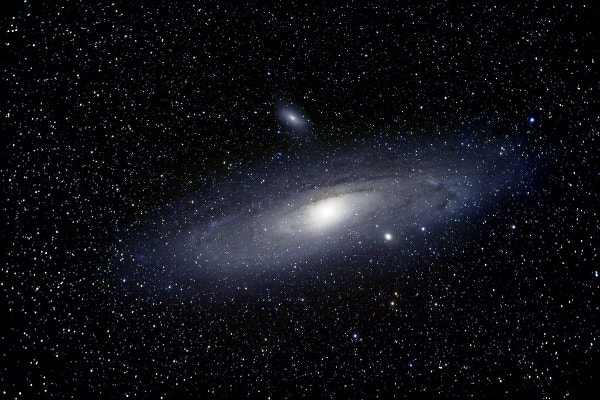 Andromeda Galaxy with Companion Galaxies Background