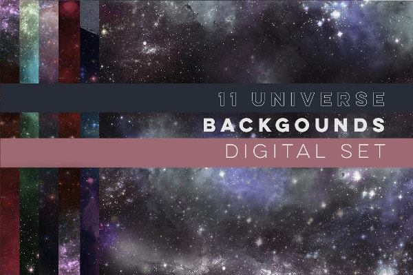 11 Galaxy Universe Backgrounds for Wallpaper