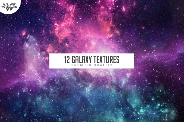 12 Galaxy Space Textures Background