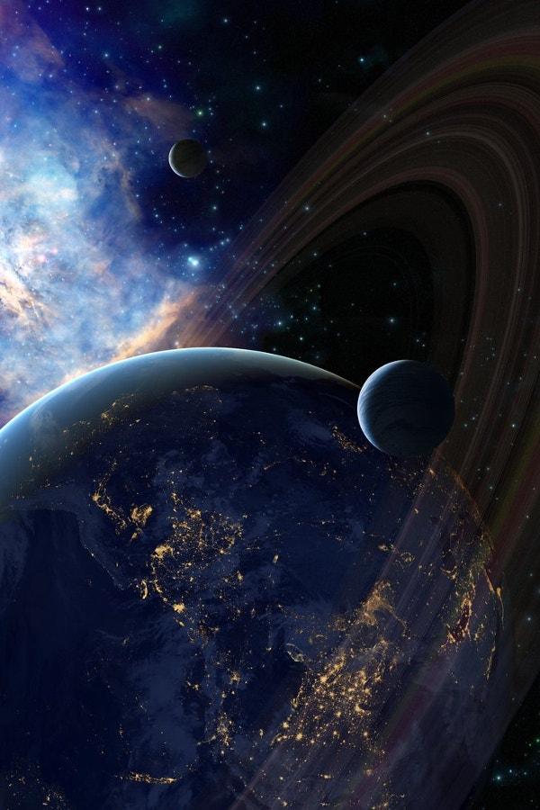 Wonderful Galaxy Background for iPhone