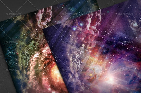 galaxy background ideal for flyer