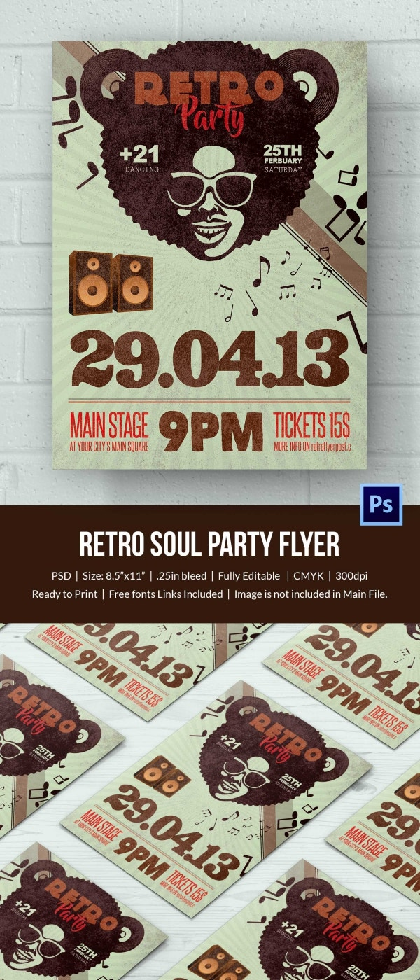 Retro Style Flyer Template 43 Free Psd Format Download Free Amp Premium Templates