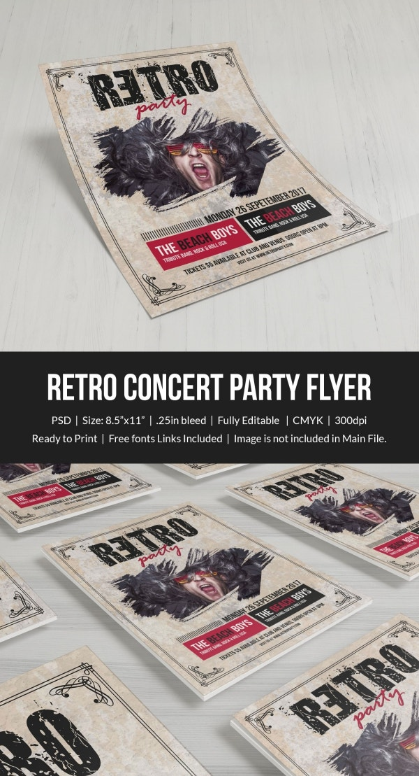 retro style flyer template