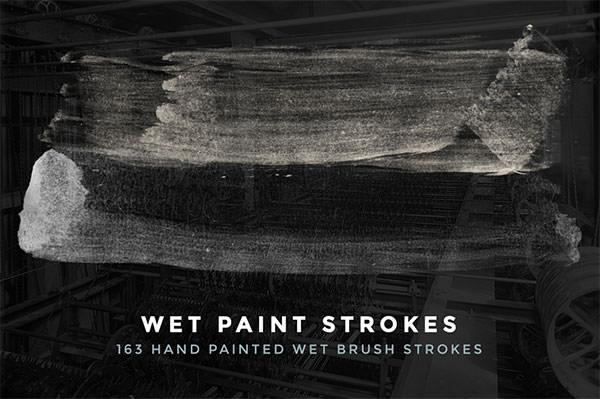 163 wet paint strokes