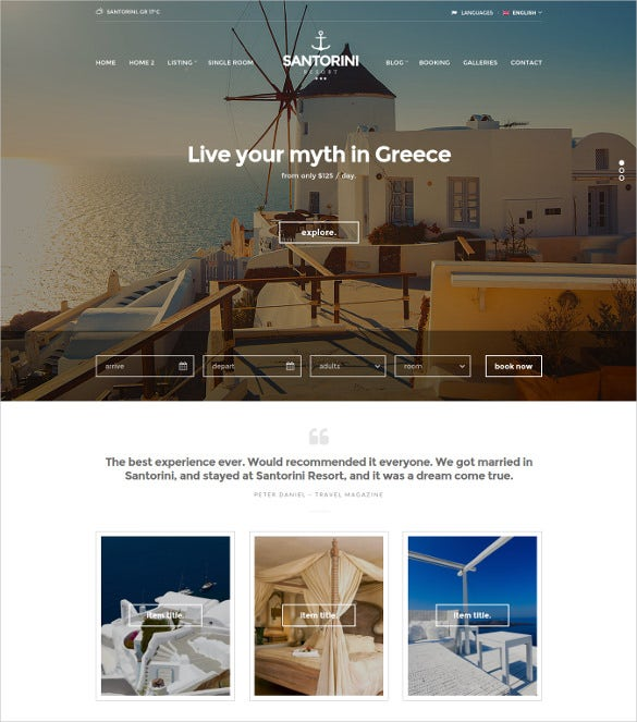 responsive hotel google website template