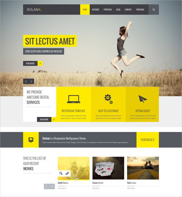 27 google website themes templates free premium for Free html product page template