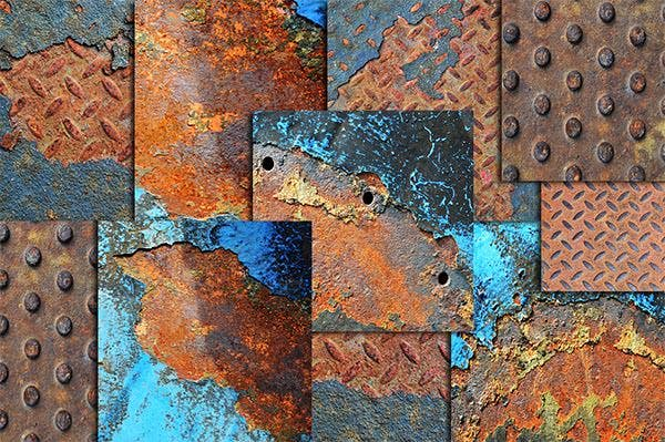 20 rusted metal textures