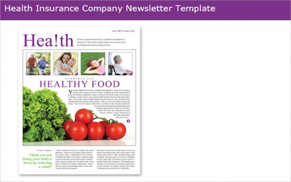 81 best newsletter templates 2018 free premium templates for Health and wellness newsletter template