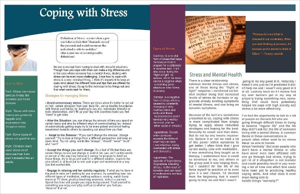 coping with stress newsletter