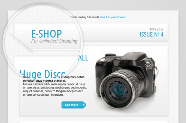 e shop newsletter template