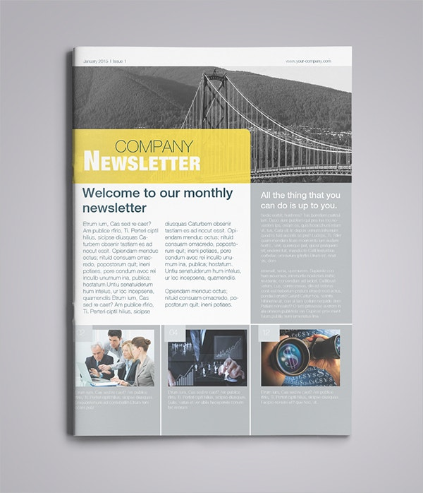 Vancouver Financial Newsletter Template