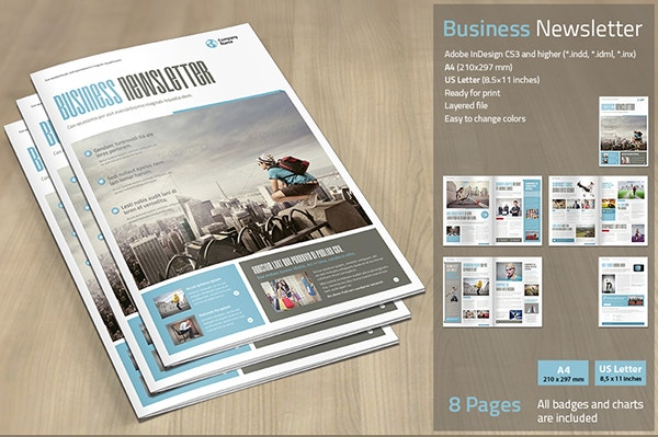 70 Best Newsletter Templates 2016 – Corporate Newsletter Template