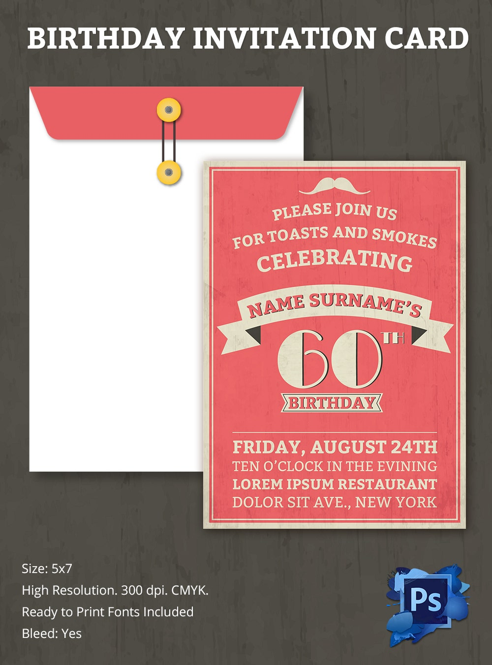 birthday invitation template  u2013 70  free psd format download