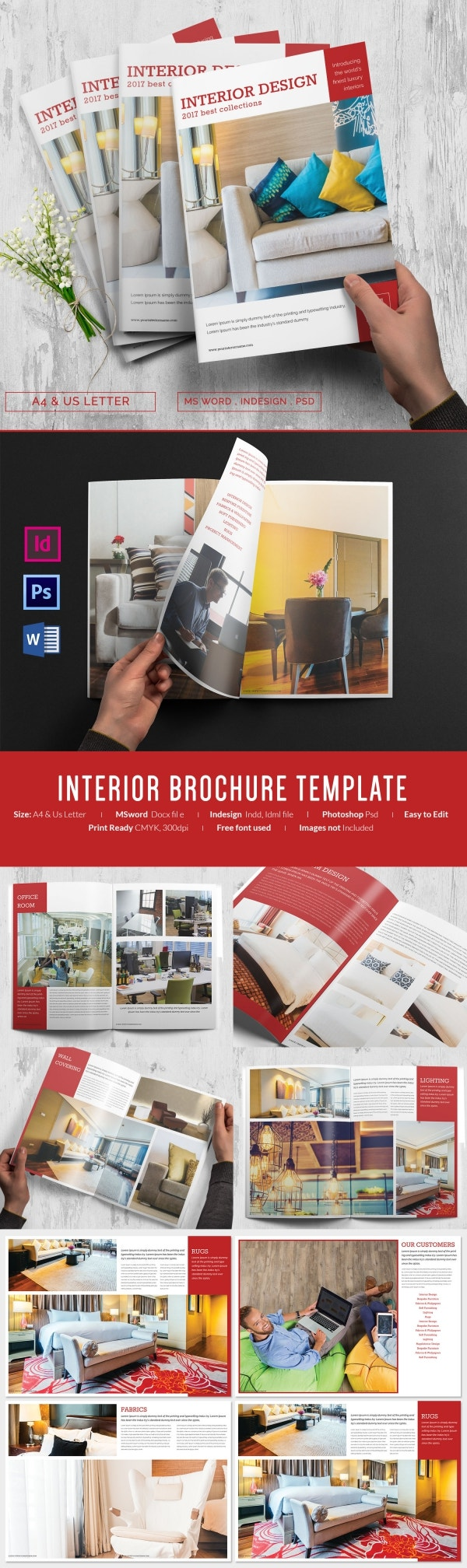Printable Interior Brochure Template