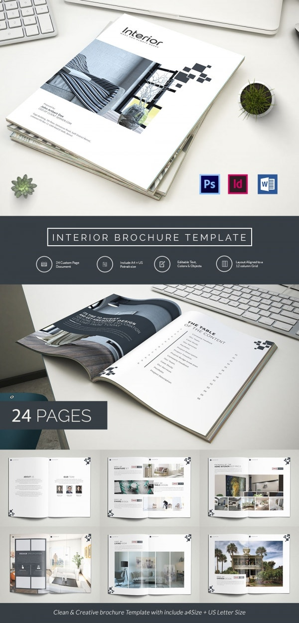 Interior design brochure 25 free psd eps indesign for Indesign interior