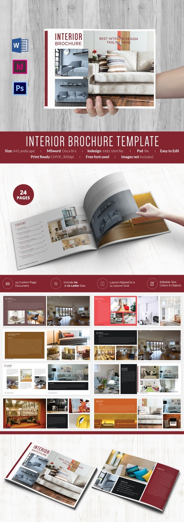 Interior Landscape Brochure Template