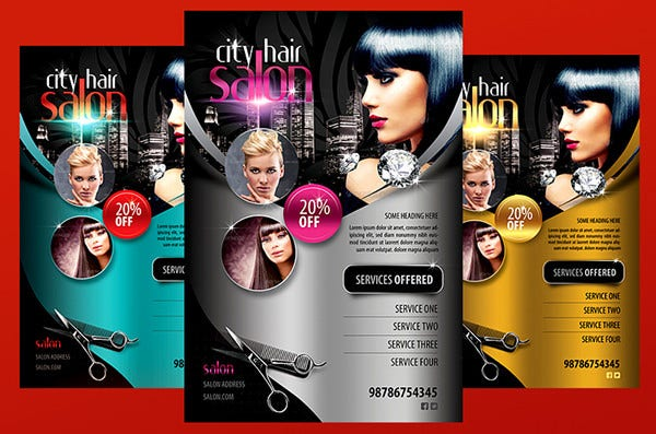 Nice City Hair Salon Flyer