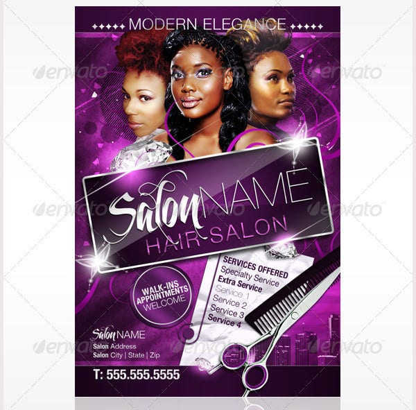 Nail salon flyer templates