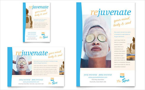66 Beauty Salon Flyer Templates Free PSD EPS AI Illustrator – Spa Brochure Template