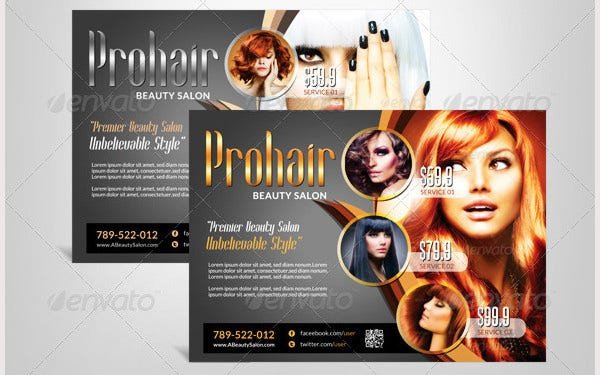 Modern Beauty Salon – Flyer Template