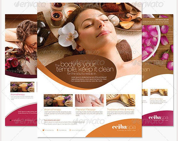 Beauty Spa Flyer Template PSD
