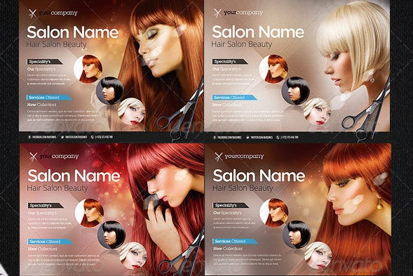 Hair Salon PRO Bussines Promotional Flyer