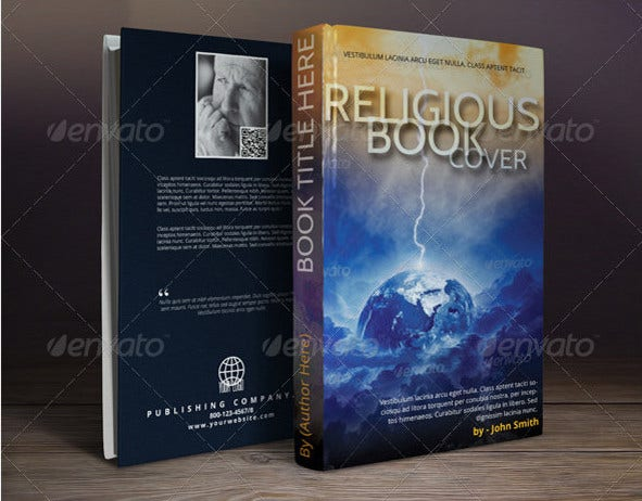 psd book cover template