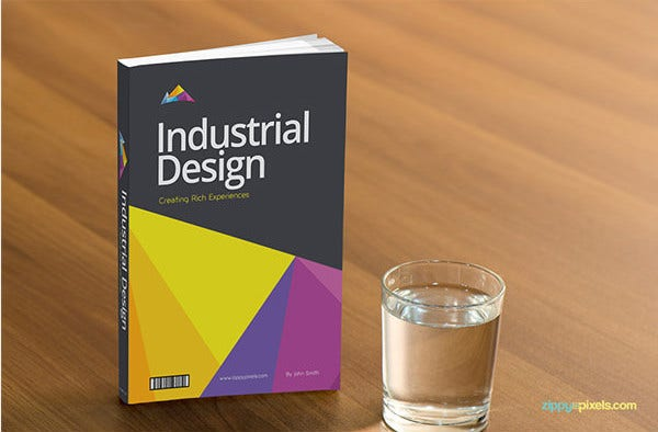 Book Cover Template Psd Free : Book cover design template psd illustration