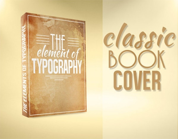 Free Vintage Book Cover Template ~ Book cover design template psd illustration