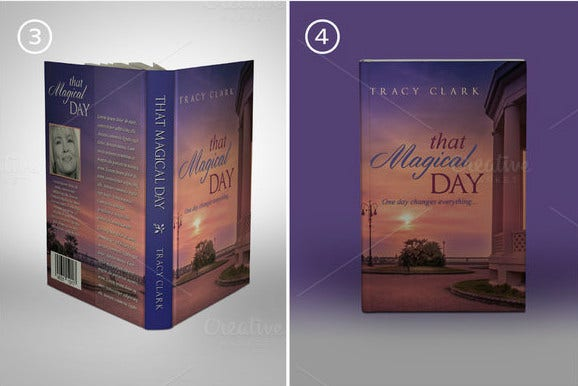 photo realistic book cover mockups