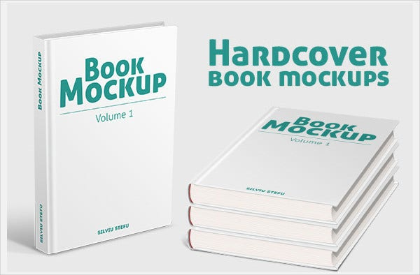 Simple Book Cover Mockup : Book cover design templates psd illustration