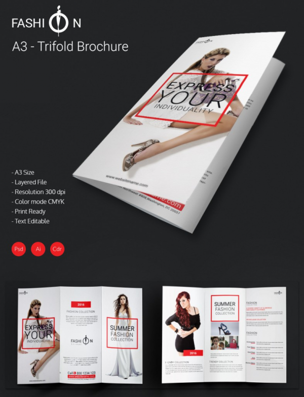 fashion brochure templates  u2013 57  free psd  eps  ai
