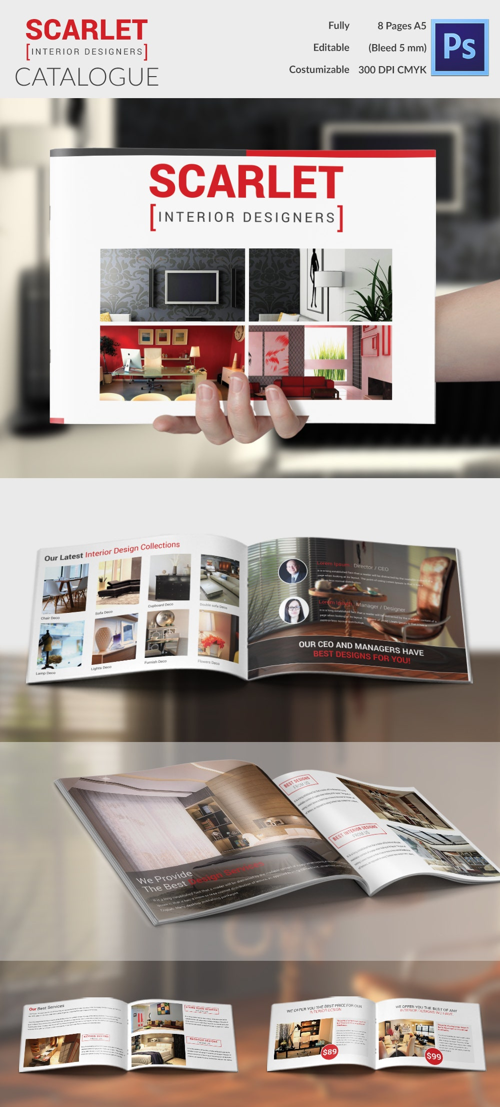 Attractive Interior Design Brochure In Catalog Style