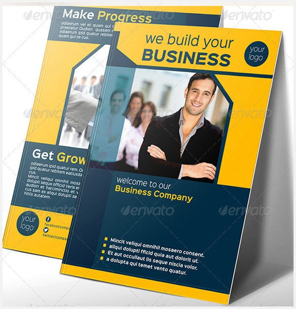 company bi fold brochure template vol 1