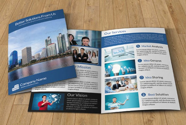 Printable BiFold Brochure Templates   Free Word Psd Pdf Eps
